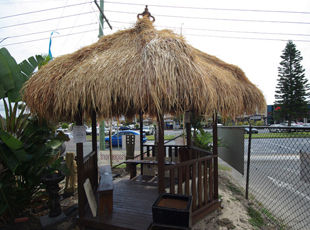 Hexagonal Bali Hut